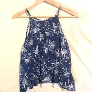 NWOT double layered floral size small